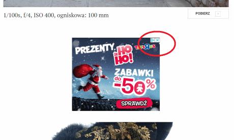 Przyklad reklamy do klikania Adsense