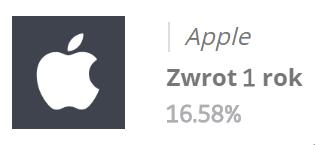 Zobacz statystyki inwestycji w akcje Apple