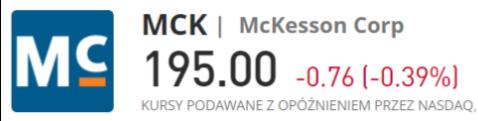 McKesson kup - Inwestowanie w akcje spółek sektora medycznego - informator 2021