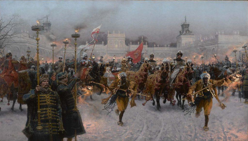 W których malarzy warto Inwestować - Wyjazd z Wilanowa Jana III i Marysieńki Sobieskich