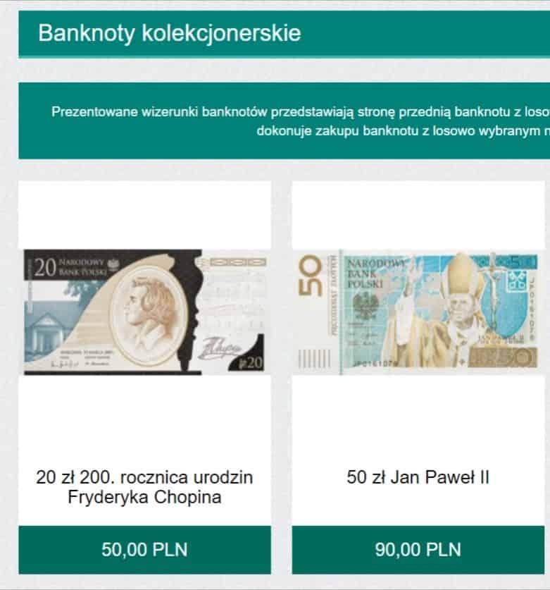 banknowy okolicznosciowe NBP - Inwestowanie małych kwot - przykłady dla 100zł, 500zł, 1000zł