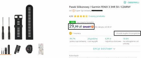 Towar sprzedawany na portalu aukcyjnym w Polsce