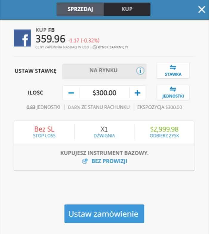 jak kupić akcje facebooka - panel