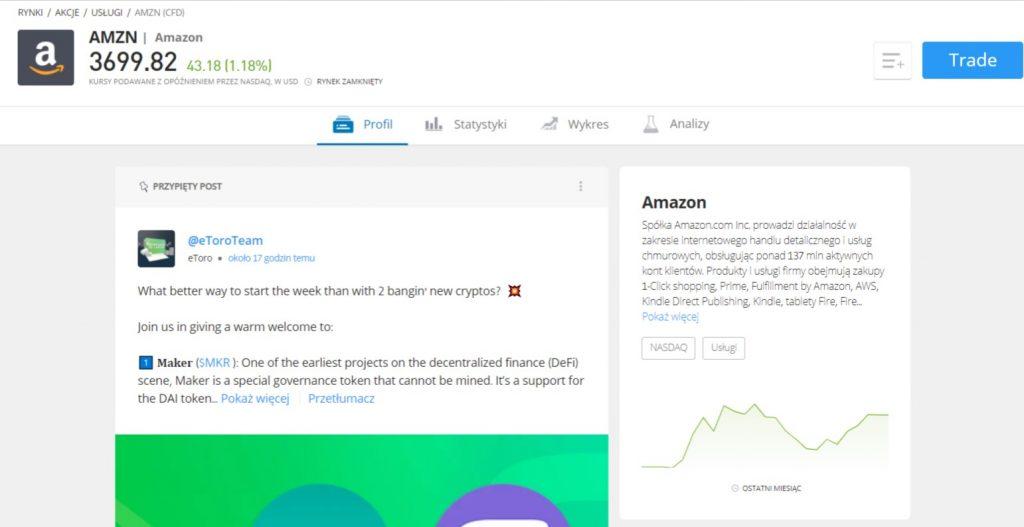 jak kupic akcje amazon panel - Jak kupić akcje Amazon: Inwestuj w AMZN z 0% prowizją