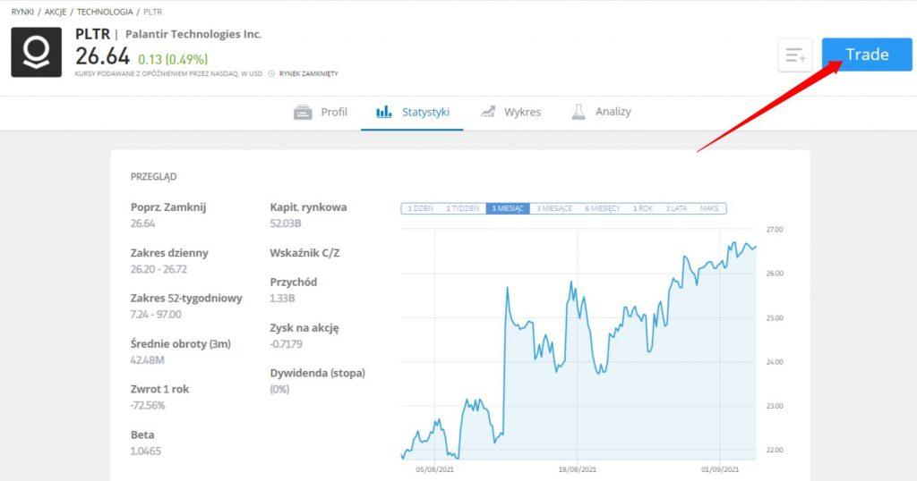jak kupic akcje palantir ekran glowny - Jak kupić akcje Palantir: Inwestowanie w PLTR z prowizją 0%