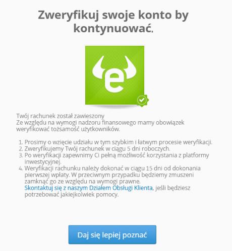 weryfikacja konta etoro - Jak zacząć inwestować i korzystać z eToro - ilustrowany poradnik
